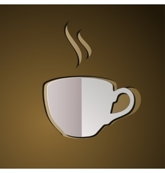 cup of coffee coffee logo vector image vector image