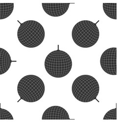 Disco ball icon seamless pattern on white vector