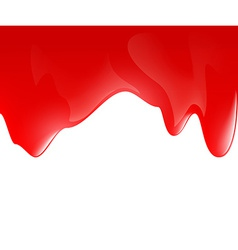 Dripping red paint on a white surface vector