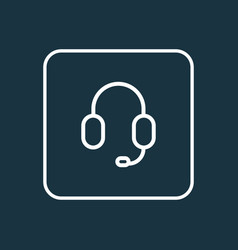 earphone outline symbol premium quality isolated vector image vector image