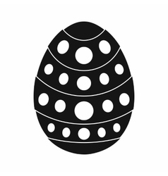 Egg for easter icon black simple style vector