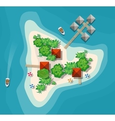 Island paradise view vector image vector image
