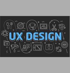 linear slide for the presentation ux vector image