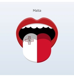Malta language abstract human tongue vector