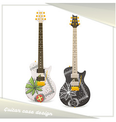 Medical marijuana guitar seven vector