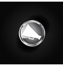 Megaphone oudspeaker icon Loud-hailer symbol vector image