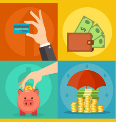 money commercial group payment investment vector image