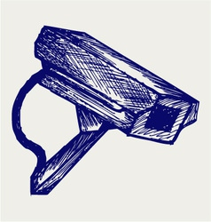 Outdoor surveillance camera vector image vector image