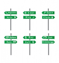 set of arrows and signs vector image vector image