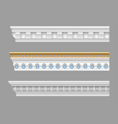 Set of classical cornices vector