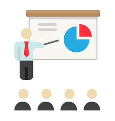 Training presentation flat icon business vector