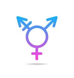 Transgender symbol icon vector