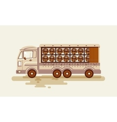Transportation of alcoholic beverages vector