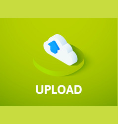 upload isometric icon isolated on color vector image