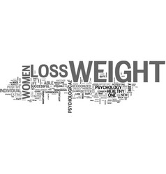 What you need to know about weight loss text word vector