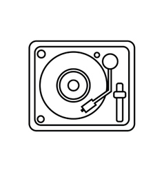 Vinyl machine music sound dj icon graphic vector
