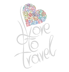 Love to travel vector