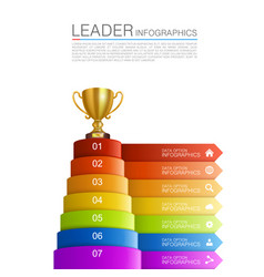 Graphic information winner cup vector