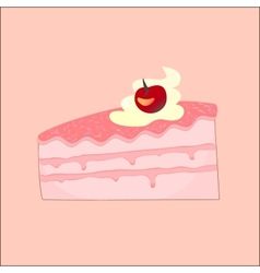 Peace of cake vector