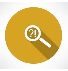 Question mark exclamation point and magnifying vector