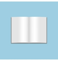Mockup of blank open magazine vector