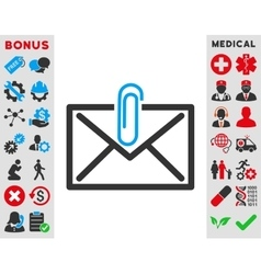 Mail attachment icon vector
