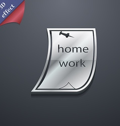Homework icon symbol 3d style trendy modern design vector