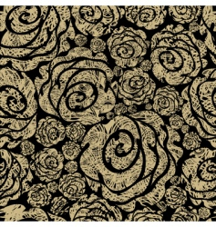 Grunge rose pattern vector