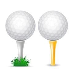 Golf balls vector