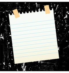 sheet of paper on grungy background vector image