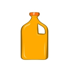 Packaging for engine oil icon cartoon style vector