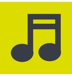 Music note icon design vector