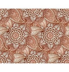 Indian henna tattoo style seamless pattern vector image