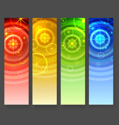 abstract vertical banners with circles and stars vector image vector image