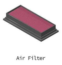 Air filter icon isometric 3d style vector
