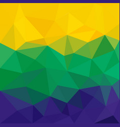 Brazil flag concept low poly triangular abstract vector