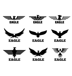 Eagles logo set vector