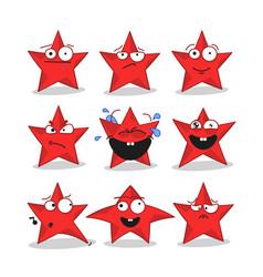 Emoji stars icons vector