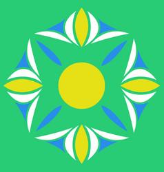 flower logo template vector image