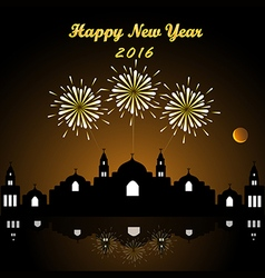 Happy new year firework 2016 vector image vector image