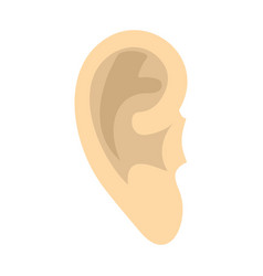 human ear icon flat style vector image