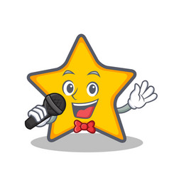 Karaoke star character cartoon style vector