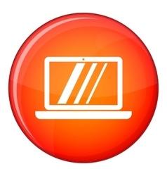 Laptop icon flat style vector