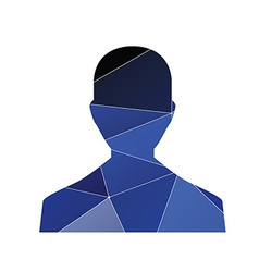 male profile icon Abstract Triangle vector image vector image