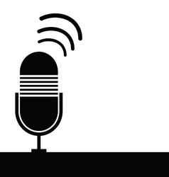 microphone ancient black object vector image vector image