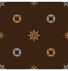 Nautical brown pattern seamless eps10 vector