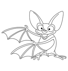 outlined bat vector image vector image