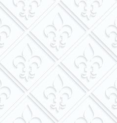 Quilling paper fleur-de-lis with grid vector