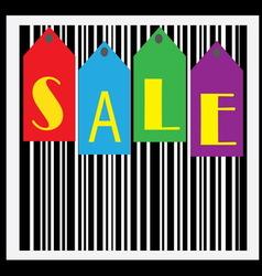 Sale bar code wallpaper vector