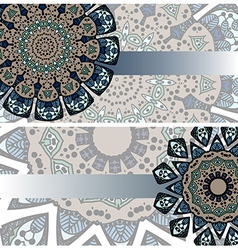 set of ethnic cards vector image vector image